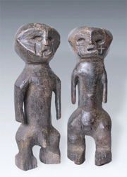 Bwaka Seto nabo Couple Figures Congo