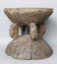 Stool with faces Bambole Congo